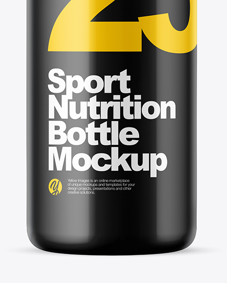Matte Sport Nutrition Bottle Mockup