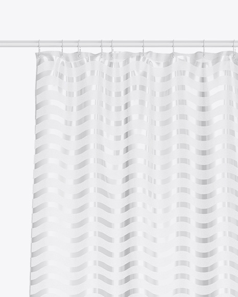 Bath w/ Frosted Shower Curtain Mockup