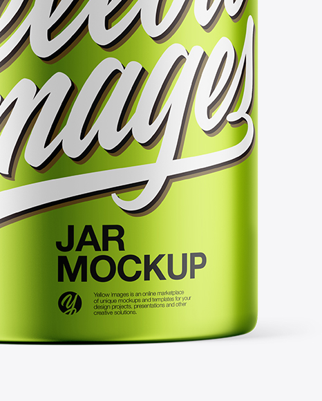 Metallic Jar Mockup
