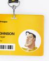 Horizontal ID Card Mockup - Top View