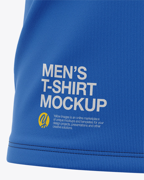 Men's Tight Round Collar T-Shirt - Front View