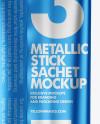 Matte Metallic Stick Sachet Mockup