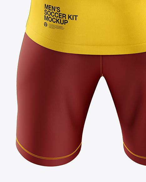 Men's Soccer Kit mockup (Back View)