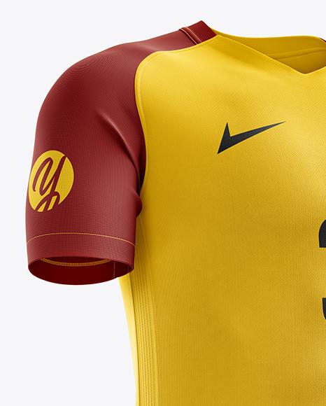 Men's Soccer Kit mockup (Right Half Side View)