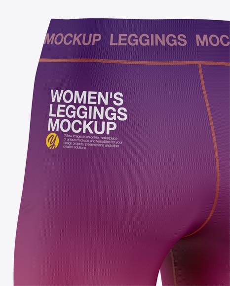 Women's Leggings Mockup - Back Half-Side View