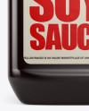 Plastic Jug w/ Soy Sauce Mockup