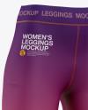 Women's Leggings Mockup - Front Half-Side View