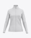 Women's Long Sleeve Full-Zip Jacket - Front View