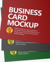 Three Paper Business Cards Mockup
