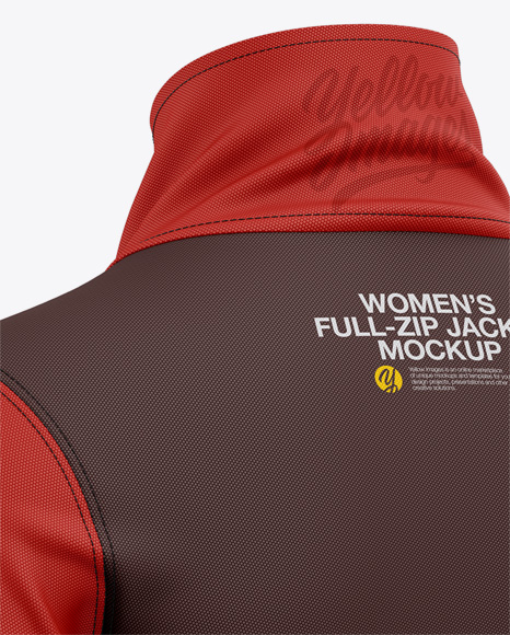 Women's Long Sleeve Full-Zip Jacket - Back Half-Side View