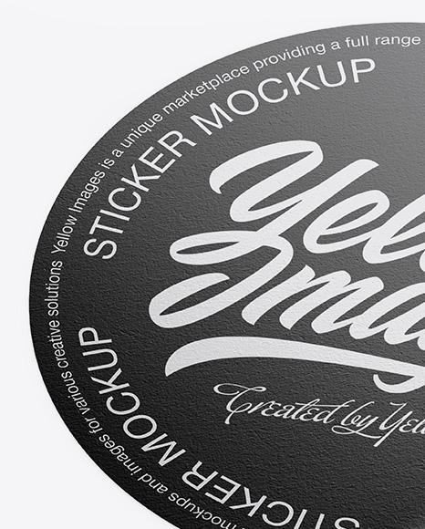 Textured Round Sticker Mockup