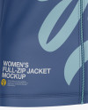 Women's Long Sleeve Full-Zip Jacket - Front Half-Side View