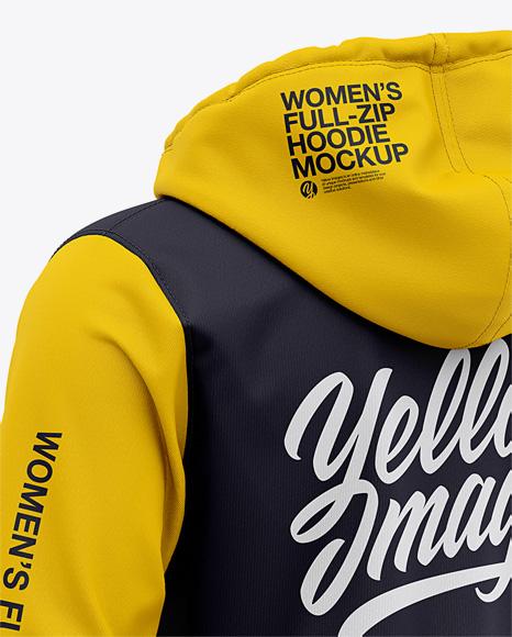 Women's Full-Zip Hoodie - Back Half Side View
