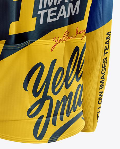 Men's Cycling Wind Jacket mockup (Back Half Side View)