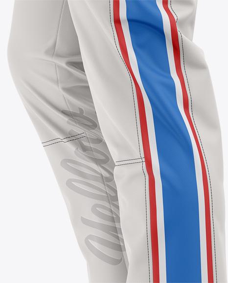 Side Panels Baseball Pants Mockup - Side View