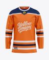 Men's Hockey Jersey Mockup - Front View
