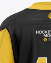 Men's Hockey Jersey Mockup - Back View