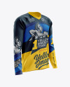 Men's MTB Trail Jersey LS mockup (Half Side View)