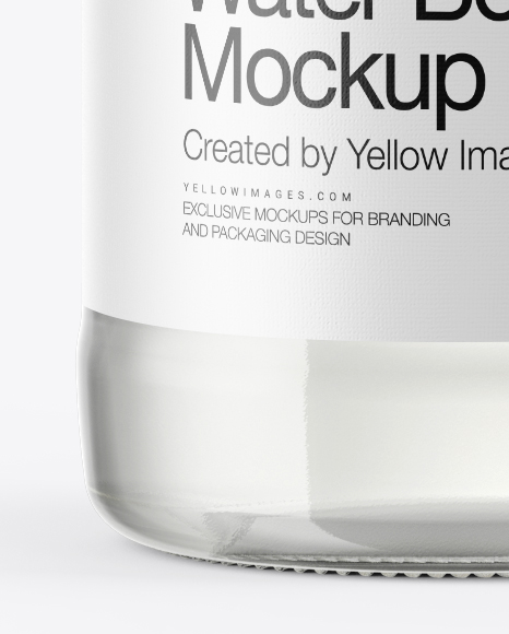 Tonic Water Bottle Mockup