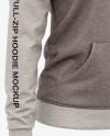 Women's Heather Full-Zip Hoodie - Front Half Side View