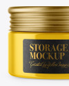 Glossy Storage Jar Mockup