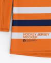 Men's Hockey Jersey Mockup - Front Top View