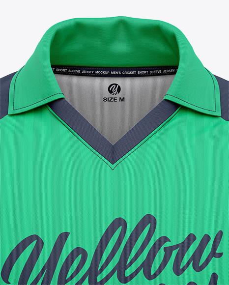 Men's Short Sleeve Cricket Jersey - Front View