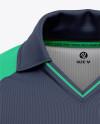 Men's Short Sleeve Cricket Jersey / Polo V-Neck Shirt - Front View