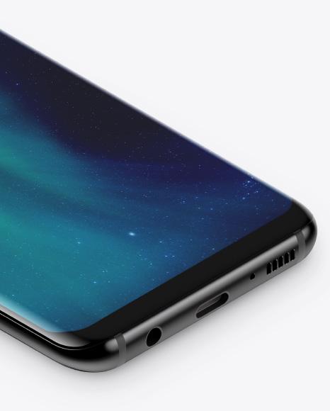 Isometric Samsung Galaxy S8 Mockup