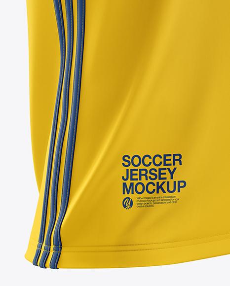 Men's Soccer Jersey mockup (Half Side View)