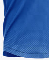 Men's Henley Collar Soccer Jersey Mockup - Front Half-Side View