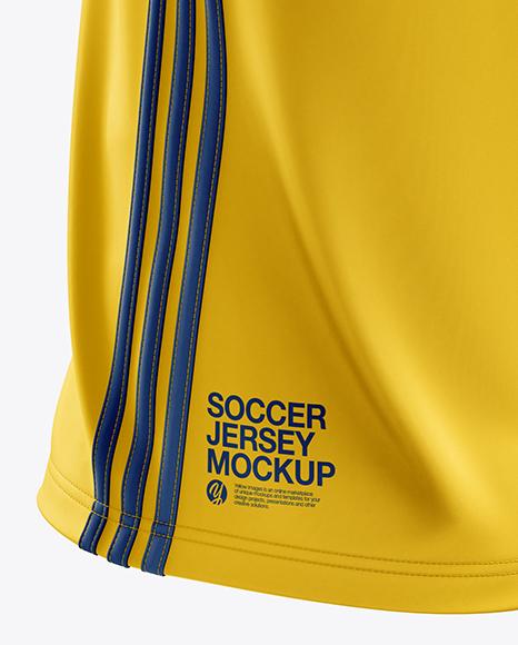 Men's Soccer Jersey mockup (Back Half Side View)