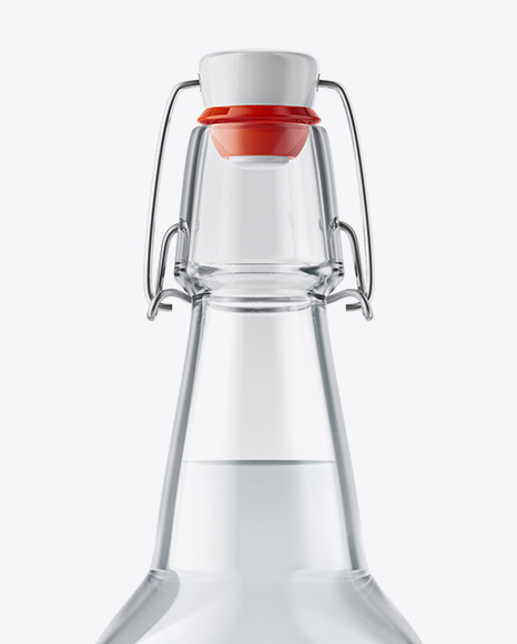 Clear Glass Water Bottle With Clamp Lid