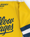 Men's Lace Neck Hockey Jersey Mockup - Back Top View