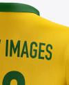 Men's Soccer Polo Kit mockup (Back Half Side View)