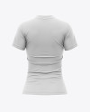 Women's Tight Round Collar T-Shirt Mockup - Back View