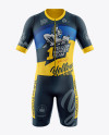 Men's Cycling Kit mockup (Front View)