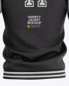 Heather Varsity Jacket Mockup - Back View