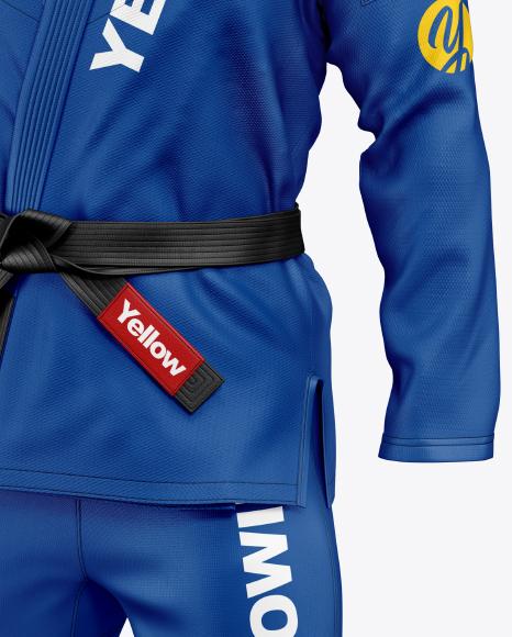 Jiu Jitsu Kimono Mockup (Half Side View)
