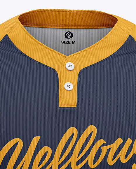 Men's Two-Buttons Baseball Jersey - Front View