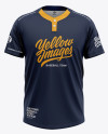 Men's Tow-Button Baseball Jersey - Front View