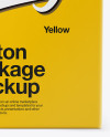 Carton Pack Mockup - Front view