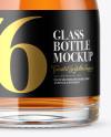 Clear Glass Whisky Bottle Mockup