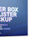 Opened Paper Box & Metallic Pills Blister Mockup - Half Side View