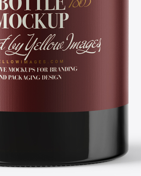 1.5L Green Glass Red Wine Bottle Mockup