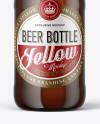 Amber Glass Beer Bottle Mockup
