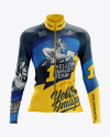Women's Cycling Thermal Jersey LS mockup (Front View)