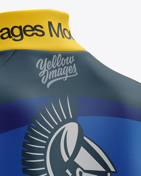 Women's Cycling Thermal Jersey LS mockup (Back Half Side View)