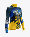 Women's Cycling Thermal Jersey LS mockup (Half Side View)