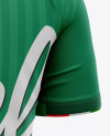 Men's Soccer Crew Neck Jersey Mockup - Back Half-Side View